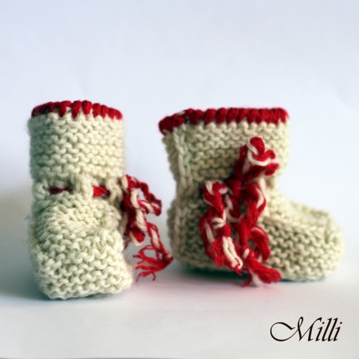 Knitted baby boots Milli, 9cm