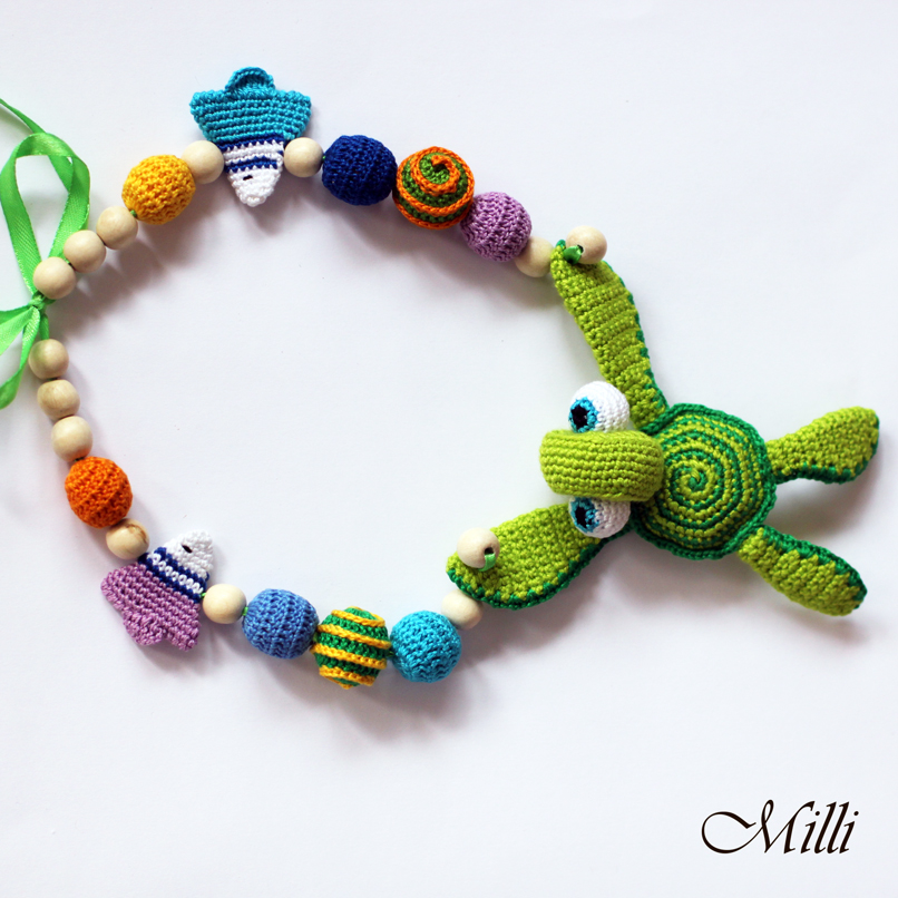 Milli necklace with turtle