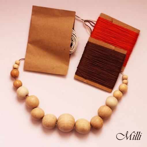 Milli Crochet DIY Kit orange-brown