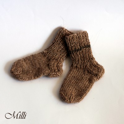 Knitted socks Milli, 11cm length