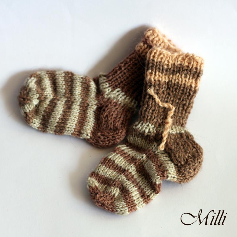 Knitted socks Milli, 11cm length
