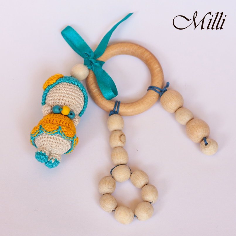 Teether with a dolly by Milli