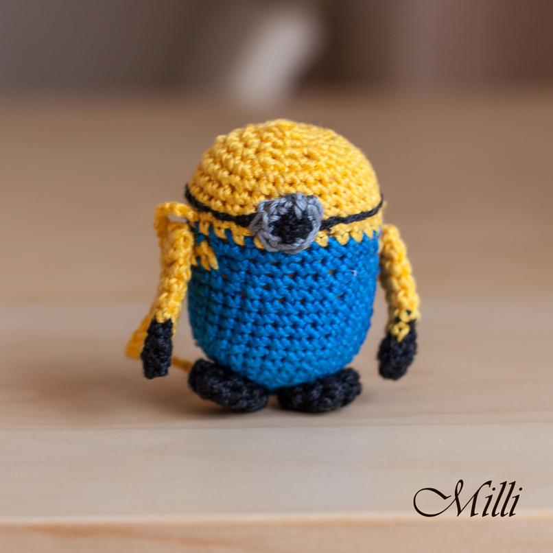 Minion by Milli, handmade croc