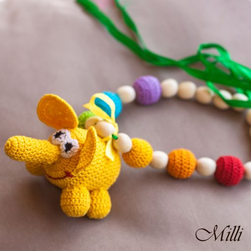 Nursing necklace with elephant by MilliCrafts.com