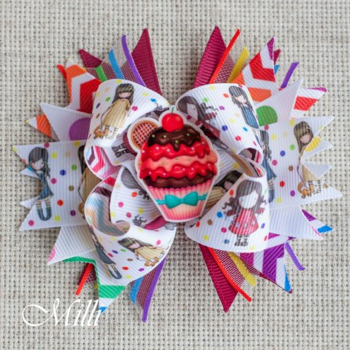 #101 Big hair bow clip Cake by MilliCrafts.com - 1pcs available