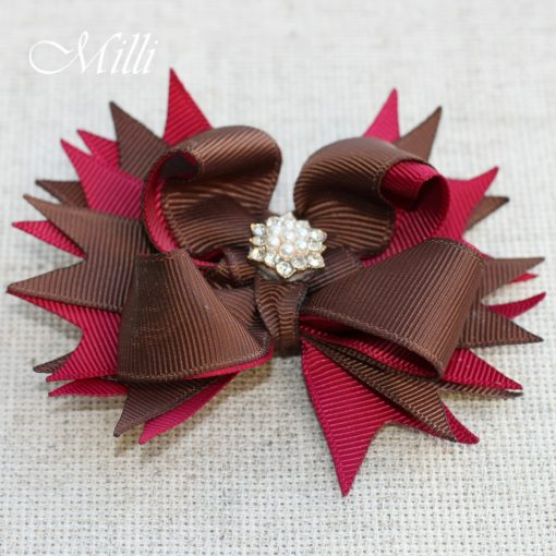#110 Big hair bow Autumn Flower by MilliCrafts.com - 1pcs available