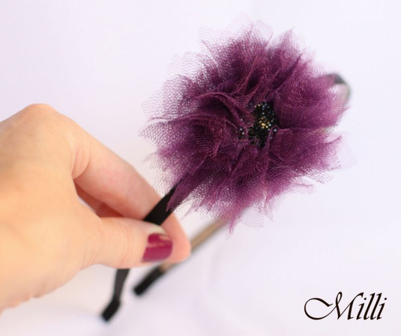 Violet flower by MilliCrafts