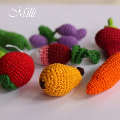 Handmade fruits and vegetables by Millicrafts.com