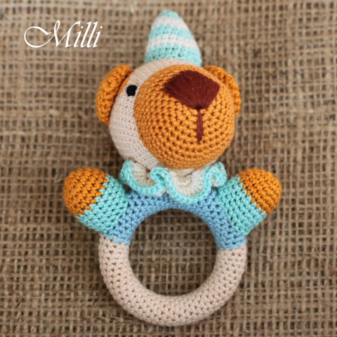 Funny Animals Rattle toy by MilliCrafts.com