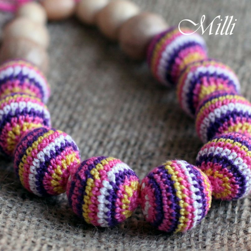 Mexico nursing / teething necklace by MilliCrafts.com
