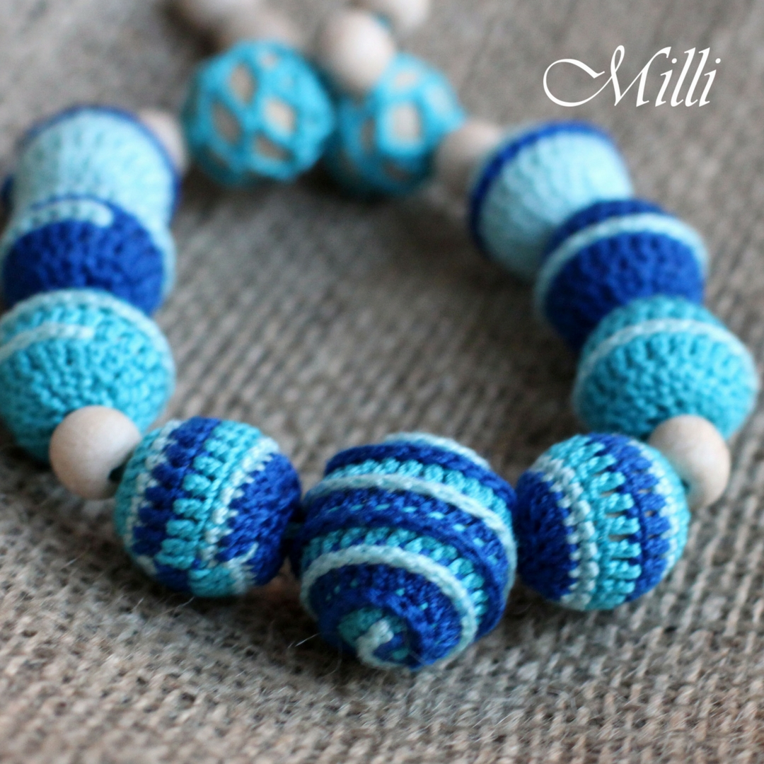 Nursing (teething) necklace by Milli Crafts (Israel)