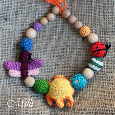 Crochet Handmade Summer Necklace by Millicrafts.com