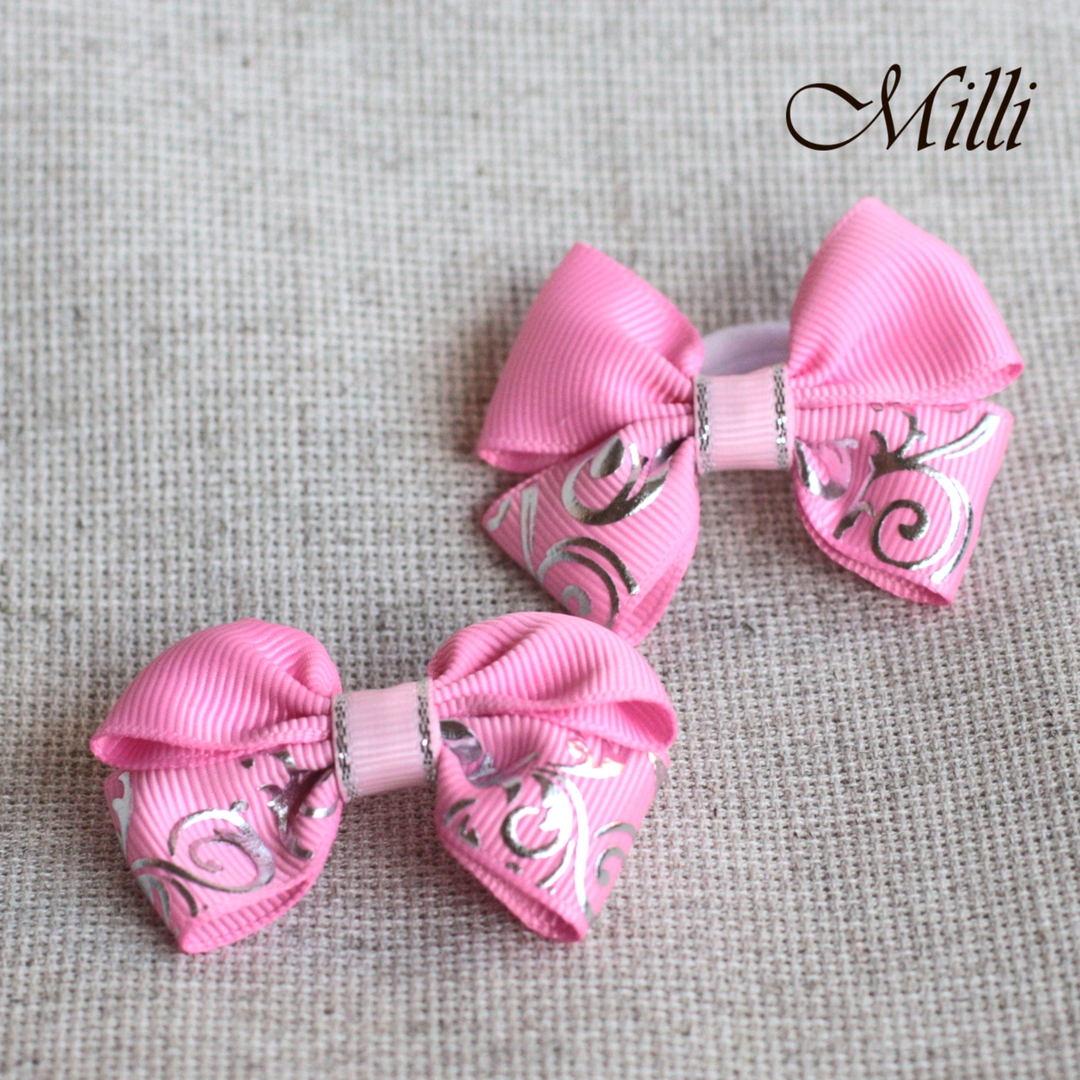 #7 Handmade hair bands/ scrunchies by Millicrafts.com - pink lace- 1pcs available