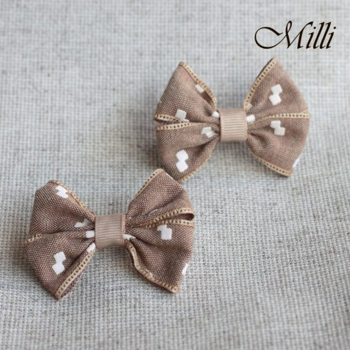 #11 Handmade hair bands/ scrunchies by Millicrafts.com - brown sugar - 2pcs available