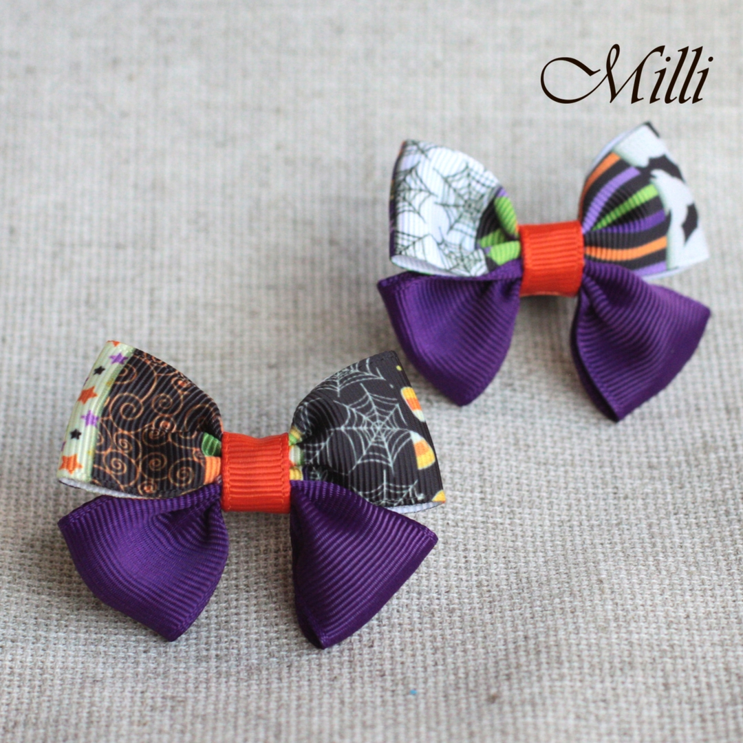 #17 Handmade hair bands/ scrunchies by Millicrafts.com - violet night- 1pcs available