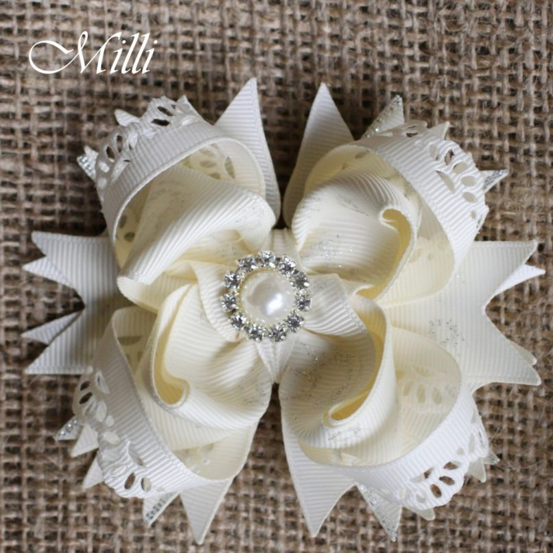 #207 New Year hair accessories -hair bow by MilliCrafts.com - 2pcs available