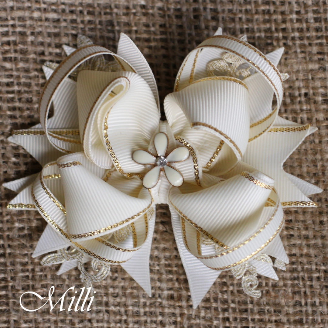 #204 New Year hair accessories -hair bow by MilliCrafts.com - 2pcs available
