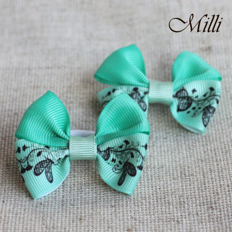 #4 Handmade hair bands/ scrunchies by Millicrafts.com - emerald lace- 2pcs available